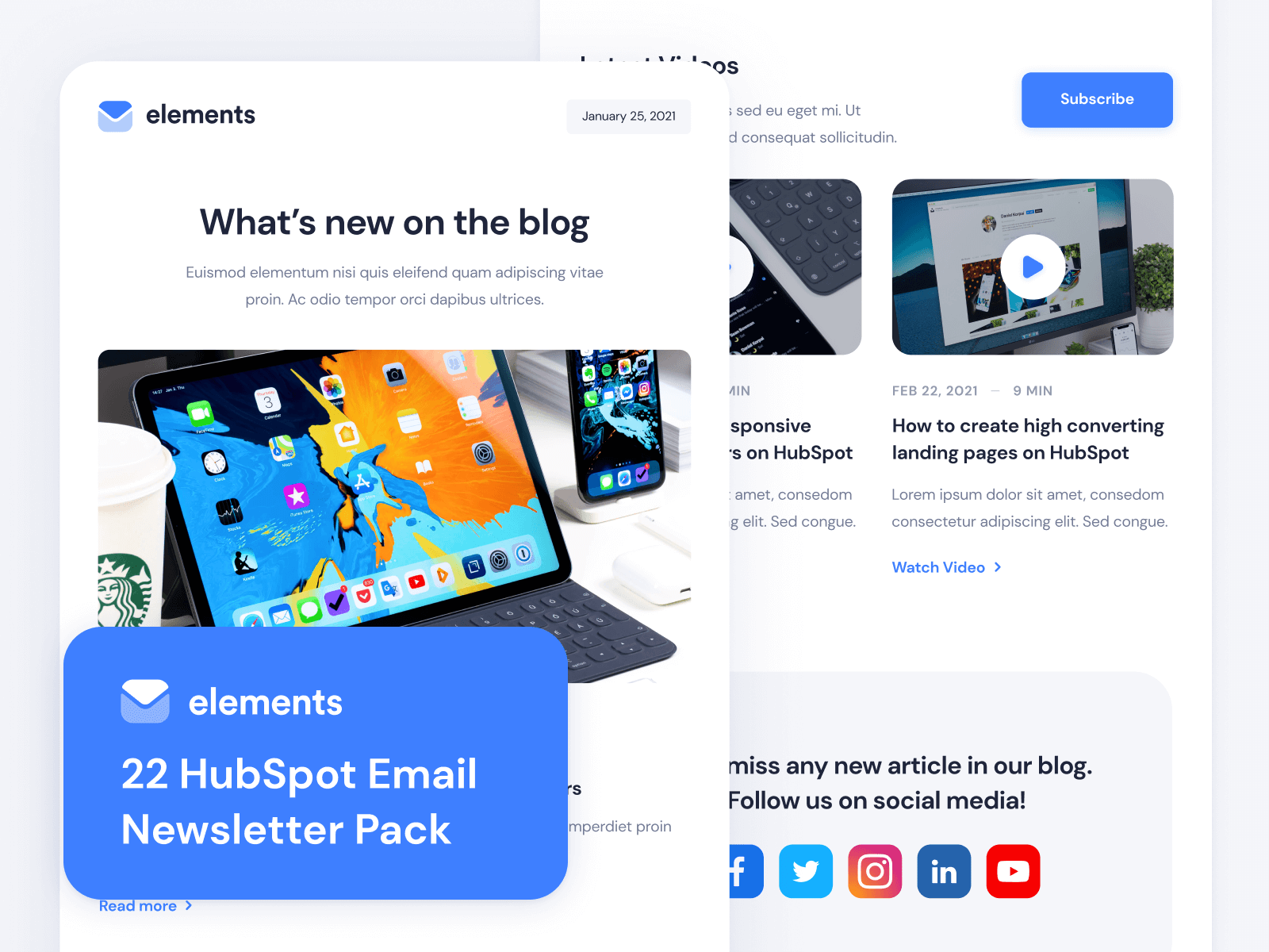 Elements - HubSpot Email Newsletter Template
