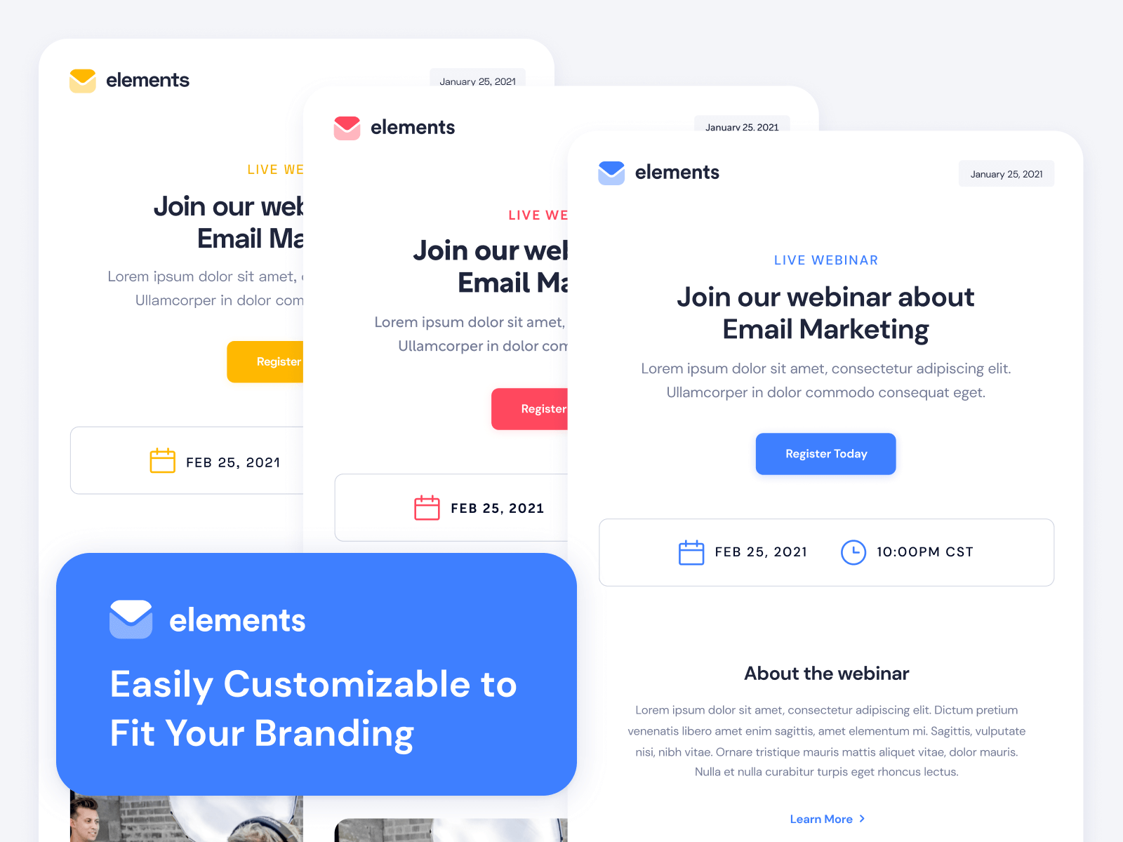 Elements - Customizable HubSpot Email Template
