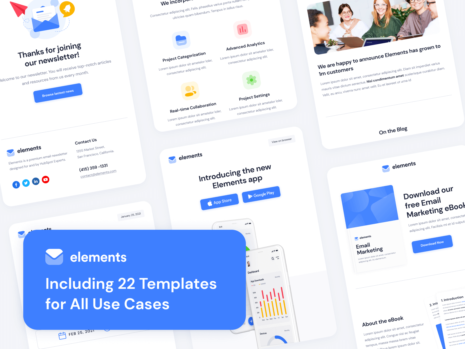 Elements - HubSpot Email Template Pack
