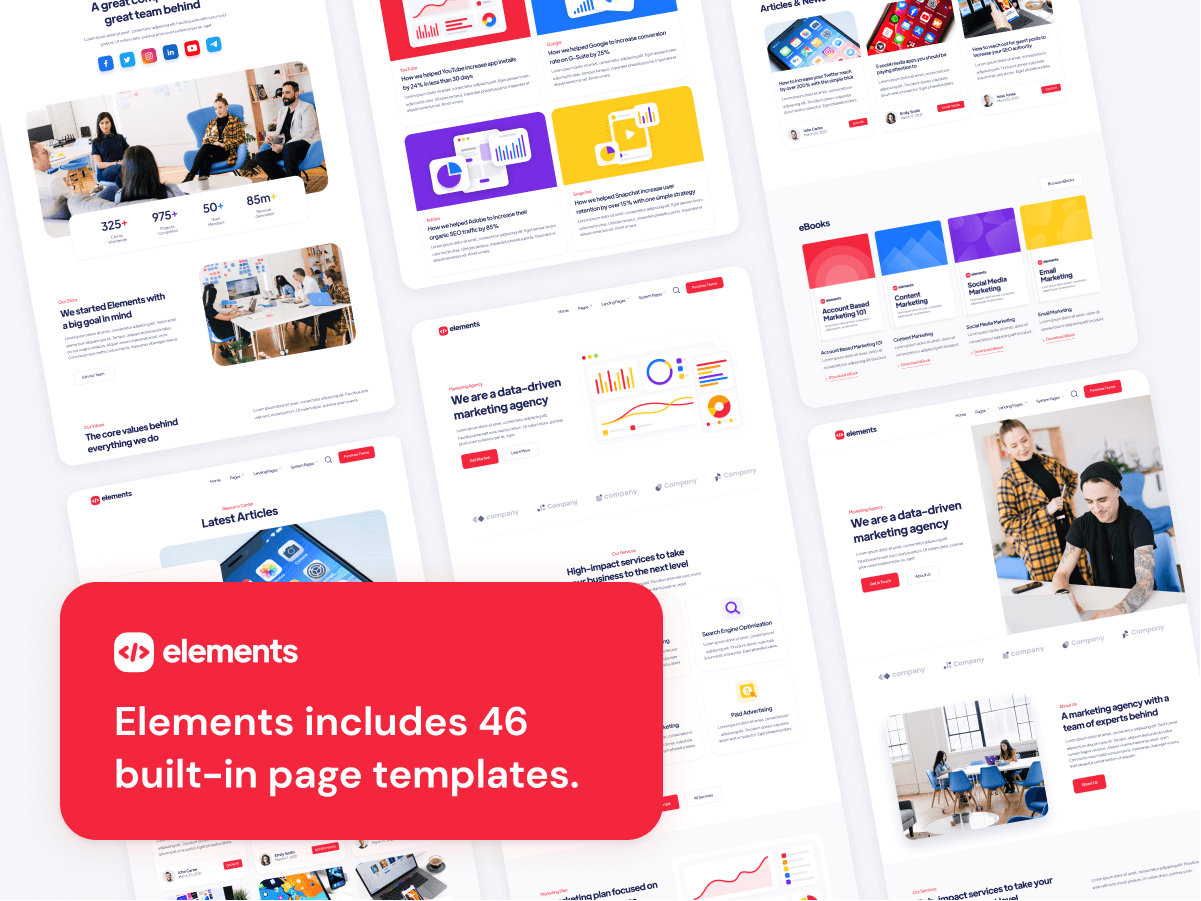 46 Pages HubSpot Theme